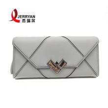 Designer Genuine Leather Envelope Purse Clutch