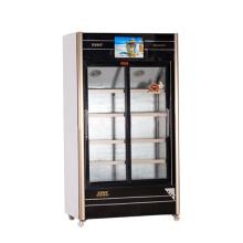 560L porta de vidro deslizante Multimedia Showcase com tela LED