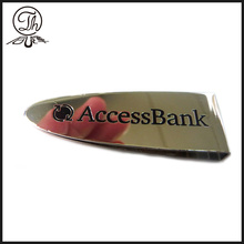 Métal de clip Reccessed Bank logo argent