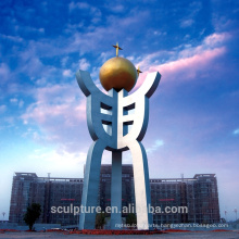 2016 New Modern Sculpture High Quality Fashion Urban Statue Outdoor And Big Garden Sculpture