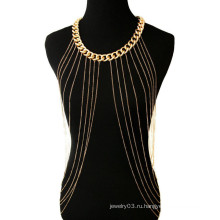 Новый стиль сексуальный бикини золота тела цепи металлической цепи ожерелье