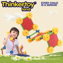 Heißer Verkaufs-Plastikpädagogisches Gebäude-Spielzeug für Kinder