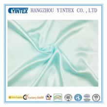 Tissu 100% soyeux et soyeux à base de bleu pâle
