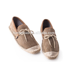New arrival men jute shoes summer casual shoes with bowtie