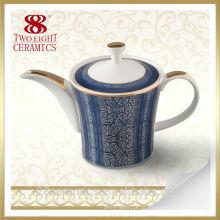 Jogo de chá porcelana moderna, chaleira de porcelana