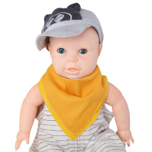 One Size Multicolor Solid Reversible Muslin Cotton Baby Bandana Drool Bibs