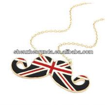 Edelstahl Schmuck englische Flagge Anhänger Gold Halskette