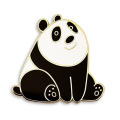 Cute Panda Bear Enamel Lapel Pins Set