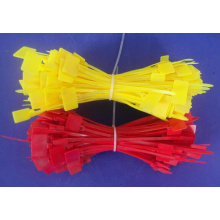 3,6 * 250 Kunststoff-Nylon-Kabelbinder, rot, orange Farbe