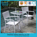 Elegant Rattan Glass Top Bistro Table