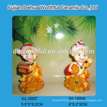 Ornamentos hechos a mano de la Navidad del polyresin en alta calidad