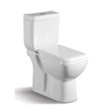 040A Toilette en céramique à deux pièces avec couverture de placard lent