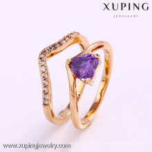 12177- Xuping Women Girls Estilo Modern Jewelery Finger Rings Set
