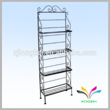 Sturdy floor stand 4 tiers supermarket metal display rack
