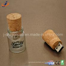 La forma del tarro de cristal USB Flash Drive (JW152)