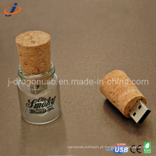 A forma do frasco de vidro USB Flash Drive (JW152)