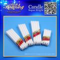 Bougies blanches bon marché bougies fournissant des bougies d'exportation de haute qualité en gros