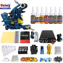 Kit de tatouage débutant TK105-13 de Solong avec des kits de tatouage d'alimentation d'énergie de pistolet de tatouage avec des aiguilles