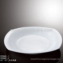 Louça de porcelana branca popular louça do hotel seguro