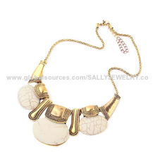 Fashion modernist resin jewelry in stocks, made of resin/alloy/metal, various colors are available