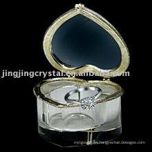 Caja de joyería cristalina de la forma del corazón (JD-CB-124)