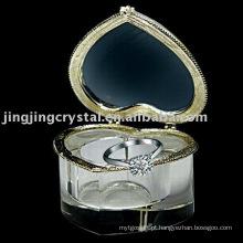 Caixa de jóias de cristal com forma de coração (JD-CB-124)