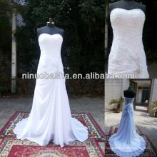 Robe de mariée en étain authentique en mousseline de soie NW-485 2014