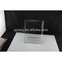 Vente chaude personnalisé design cristal verre photo cadre photo