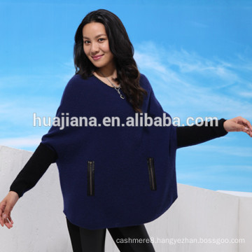 woman's cashmere dolman sleeves sweater