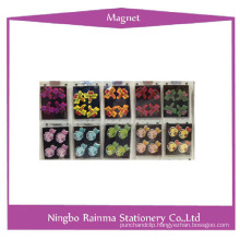 Color Button Magnets with Flower Shape