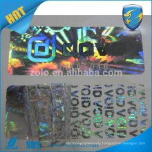 Alibaba China manufacturer hologram custom print stickers/security void barcode label