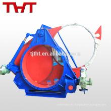 Válvula industrial del control de la placa ciega neumática del gas de la careta