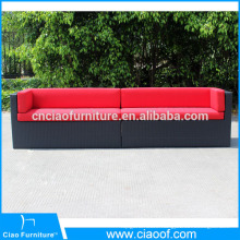 Long Size Outdoor Loveseat Sofa / Two Seater Sofa Set