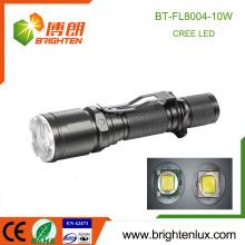 Factory Supply 1 * 18650 Batterie au lithium Alimenté Aluminium Longue portée Multi-fonctionnel 10W Cree xml-2 t6 led Torche rechargeable