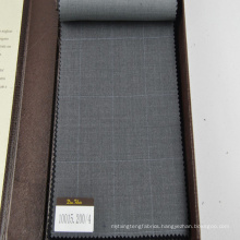 100% wool suiting fabric in large check design