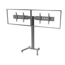 "Public TV Floor Stand Wheelbase Dual Screens 30-60"" (AVA 202B)"
