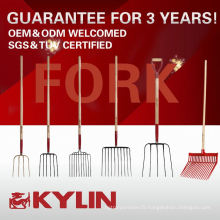 Prix concurrentiel tous les types d'outils de jardin de ferme lancent la tête de fourchette avec la poignée