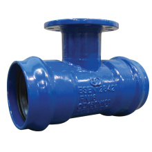Ductile Iron Flanged branch Double socket Tee