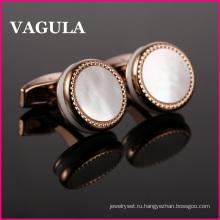 VAGULA Роза L52500 запонки Золотые рубашки
