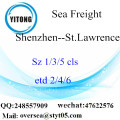 Shenzhen Port LCL Consolidation To St.Lawrence