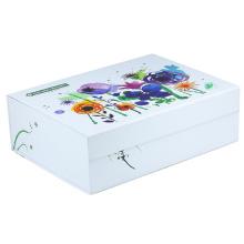 Custom White Magnetic Closure Gift Folding Box With Flat Shipping