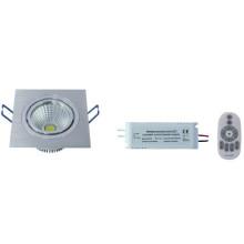 Temperatura de color de control remoto ND-a RF y luz de techo COB regulable