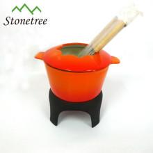 panelas de ferro fundido conjunto de fondue de chocolate de ferro fundido fondue de ferro fundido