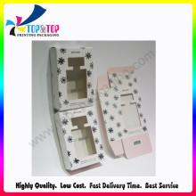 Elegante caja plegable de regalo de perfume de papel de estilo