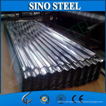 Chapa de aço ondulada galvanizada Az150 usada para telhar