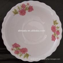 tazón de fuente de cerámica del borde cortado