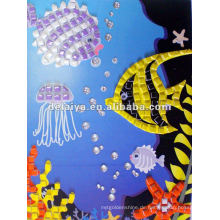 children mosaic foam sticker for fish