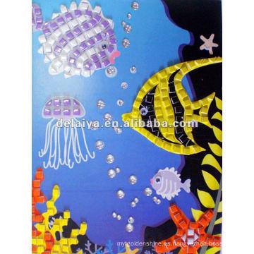 adhesivo de espuma de mosaico infantil para peces