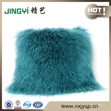 Vente chaude mongole peau de mouton décorative oreillers
