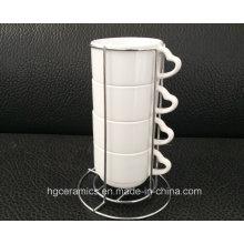 Tasse Strackable, 4PCS / Set Tasse de sublimation